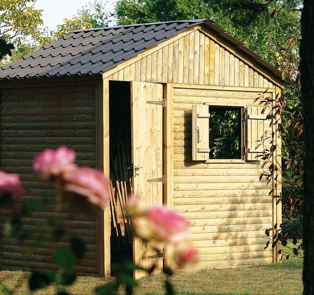 abri de jardin bois - terrasse bois